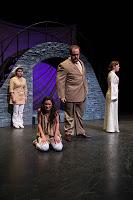 Zientek (left) as Nurse,Pereyra as Juliet,Novak as Capulet, andTelford asLady Capulet