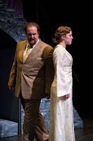 Thomas Novak (left) as Capulet and Elizabeth Telford, Romeo  andJuliet.