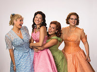 Cozzens (left) as Suzy, Bednarczuk (Cindy Lou),Storrs (Betty Jean), Cook (Missy)