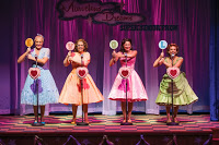Cate Cozzens (left) as Suzy, Natalie Storrs as Betty Jean,Barbara Jo Bednarczuk as Cindy Lou, andVictoria Cook as Missy,2013 The Marvelous Wonderettes