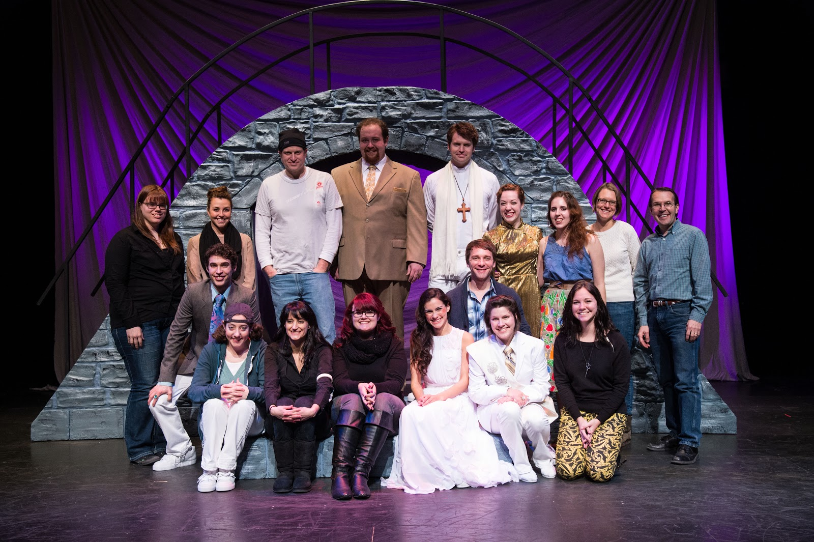 The cast and crew of the Utah Shakespeare Festival's  Romeo and Juliet.