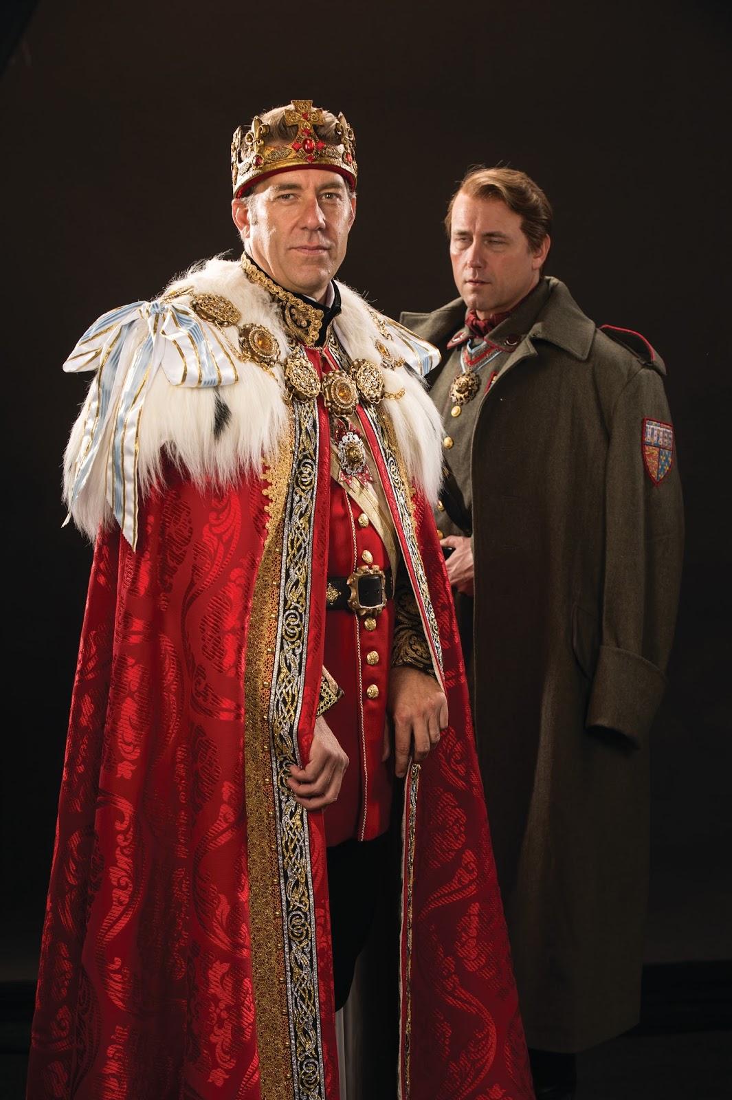 Ivers as Richard II,Bull as Bollingbrook, Richard II 2013