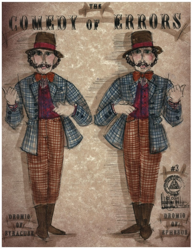 Costume Sketch by David Kay Mickelson, Dromios