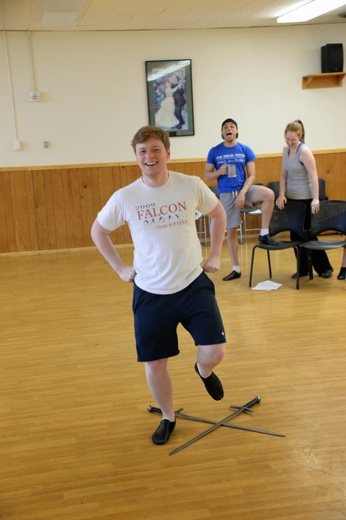 Sanders practicing  sword dance