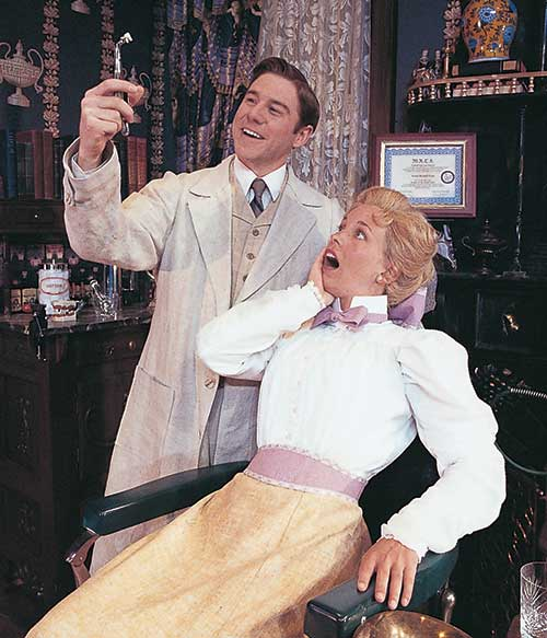 Brian Vaughn (left) as Mr. Valentine and Tyler Layton as Dorothea (Dolly) Clandon in  You Can't Take It With You,  1999.