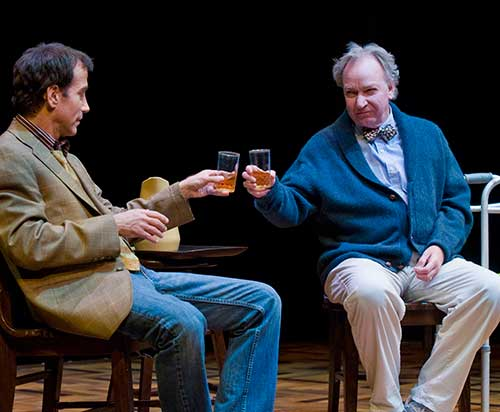 James Stellos (left) as Mitch Albom and Dan Kremer as Morrie Schwartz in  Tuesdays with Morrie,  2009.