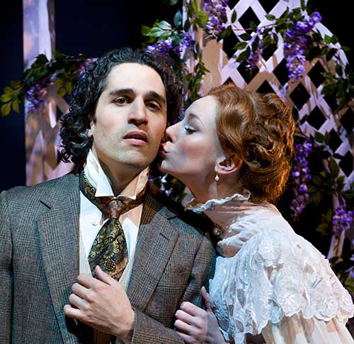 Ben Cherry (left) as Archibald Craven and Emily Trask as Lily in  The Secret Garden,  2009.