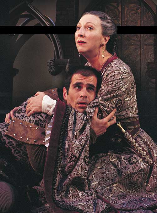 Ty Burrell (left) as Richard and Leslie Brott as Eleanor of Aquitaine in  The Lion in Winter,  1999.