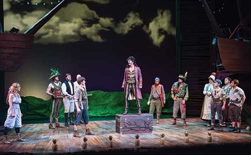 A scene from  Peter and the Starcatcher,  2013.