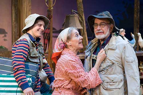 Christopher Andrew Silcox (left) as Billy Ray, Peggy Scott as Ethel Thayer and Richard Kinter as Norman Thayer, Jr. in  On Golden Pond,  2006.