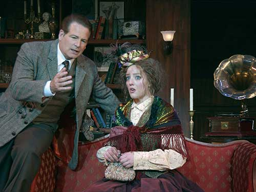 Kurt Ziskie (left) as Henry Higgins and Melinda Pfundstein as Eliza Doolittle in  My Fair Lady,  2004.