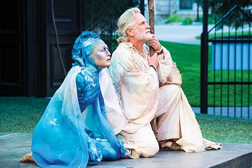 Melinda Parrett (left) as Ariel and Henry Woronicz as Prospero in  The Tempest,  2013.
