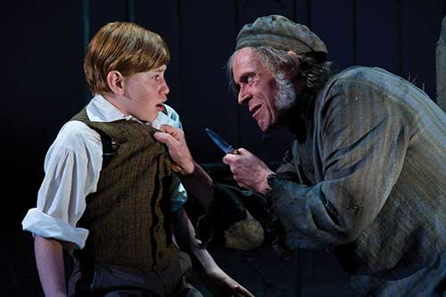 LJ Benet (left) as Young Pip and Max Robinson as Magwitch in  Great Expectations,  2010.