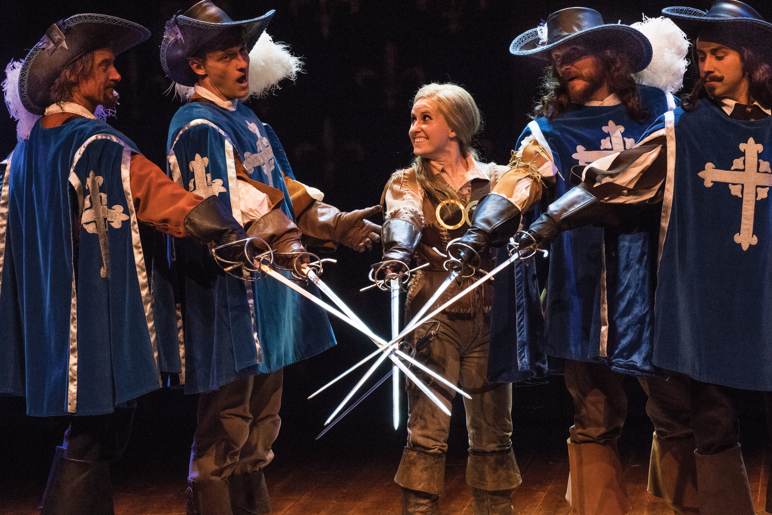 A scene from the Utah Shakespeare Festival's 2016 production of  The Three Musketeers.
