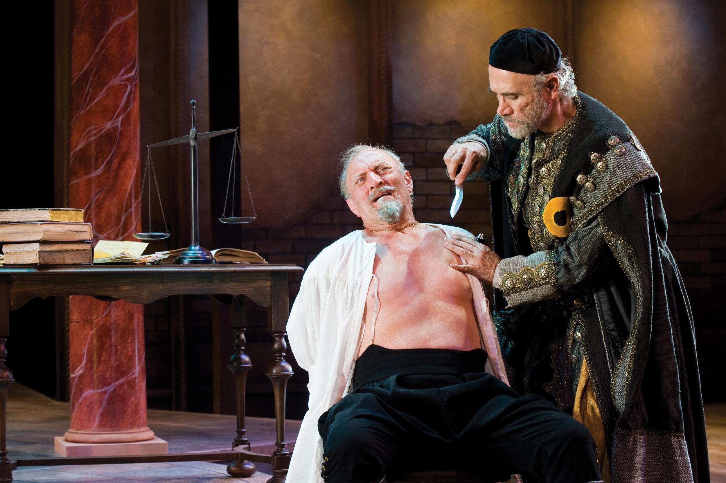 Gary Neal Johnson (left) as Antonio and Tony Amendola as Shylock in  The Merchant of Venice,  2010.