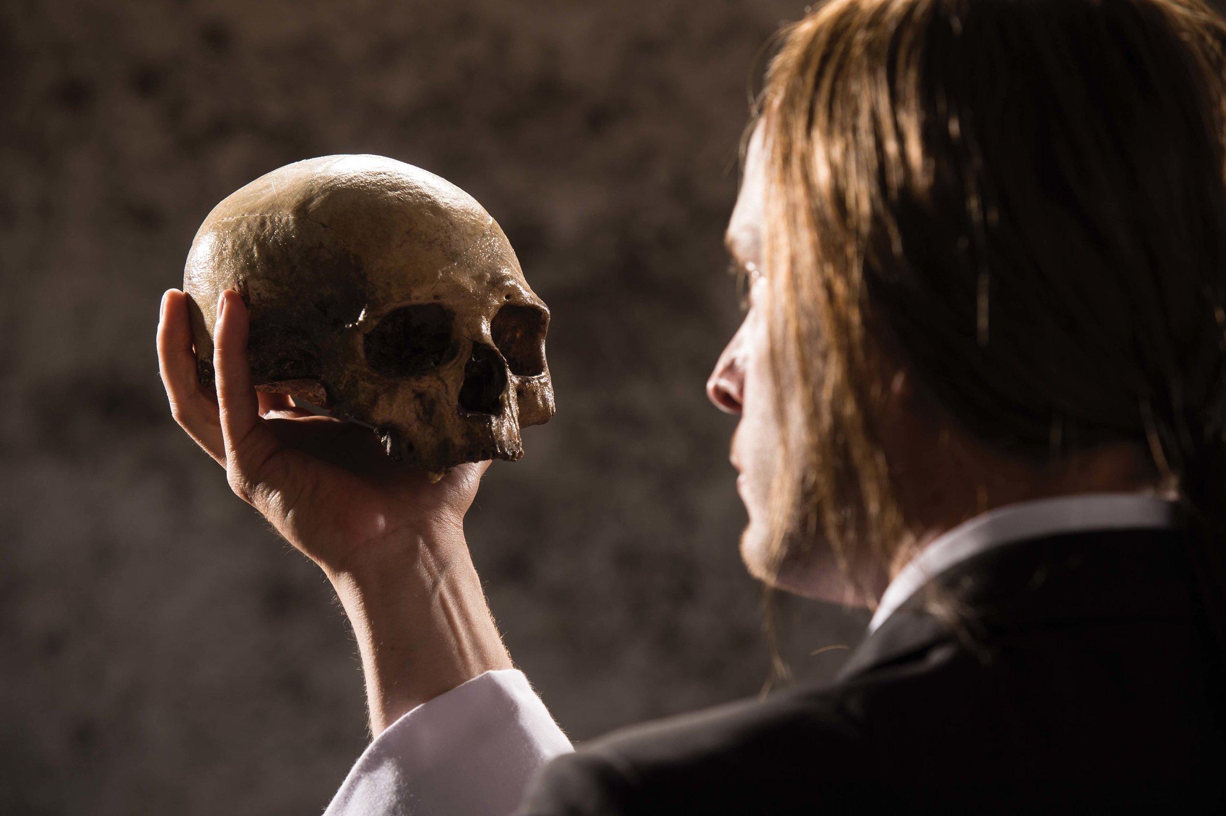 Danforth Comins as Hamlet in  Hamlet, 2012.