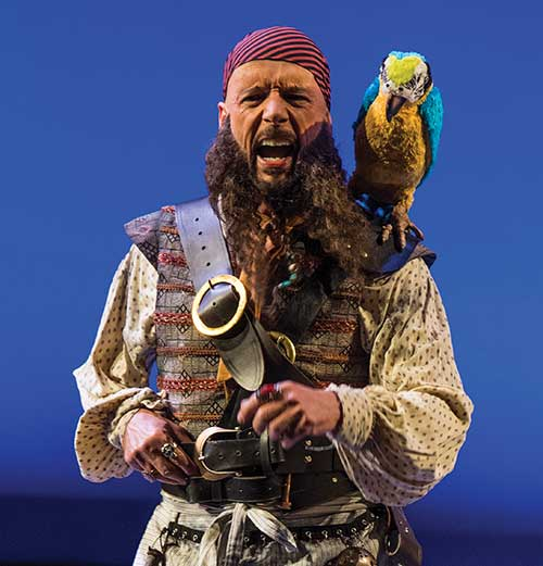 Michael Elich as Long John Silver in the Utah Shakespeare Festival's 2017 production of  Treasure Island.