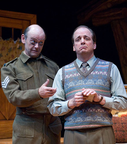 A. Bryan Humphrey (left) as Froggy LeSueur and Chris Mixon as Charlie Baker in the  The Foreigner,  2005.