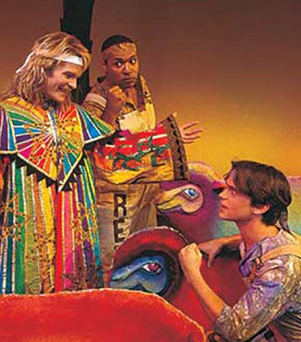 Joseph Heninger-Potter (left) as Joseph, René Thornton Jr. as Reuben, and Matt Bomer as Isaacher in the Festival's 1998 production.