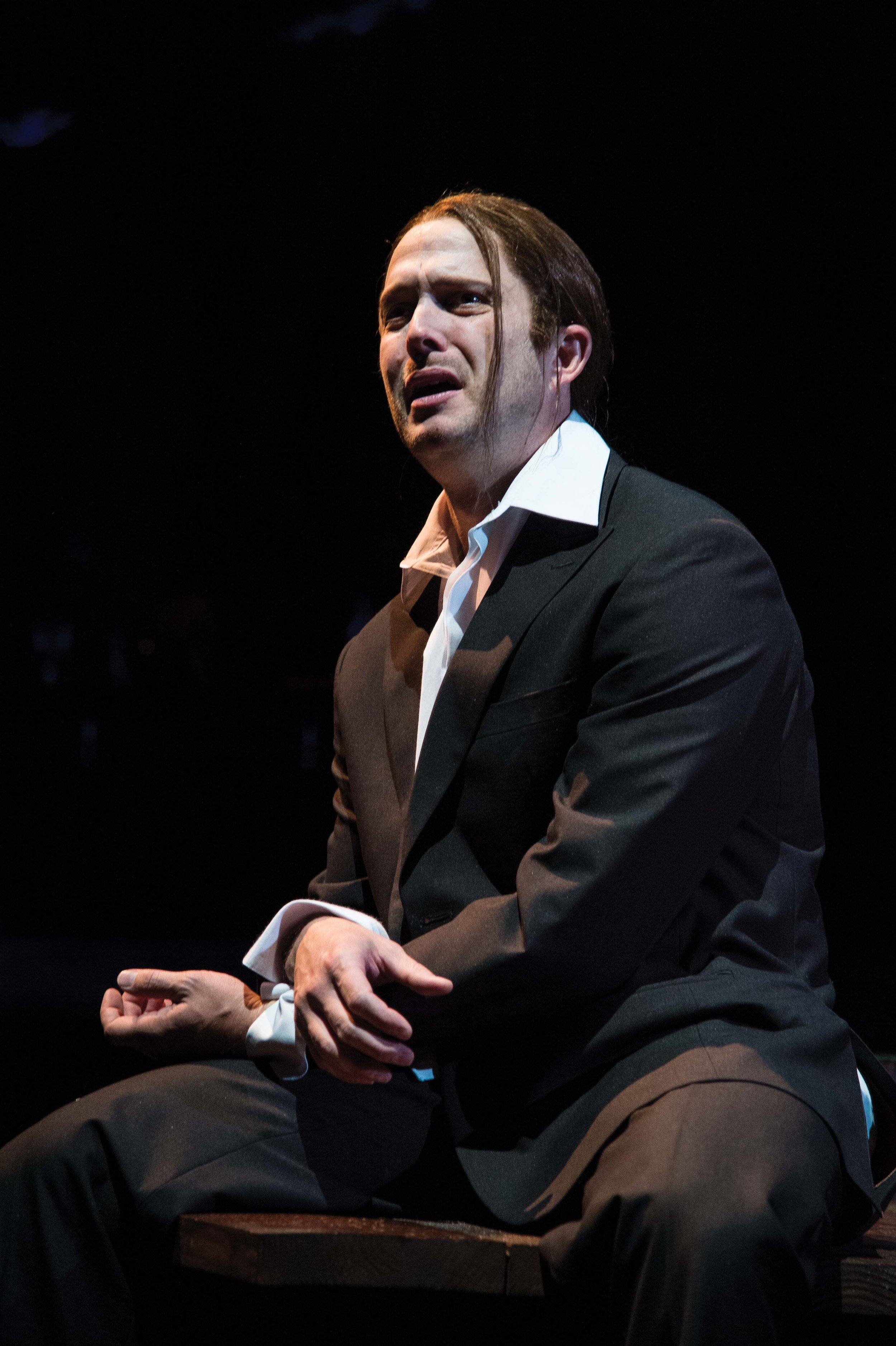 Danforth Comins as Hamlet at the Utah Shakespeare Festival in 2012.