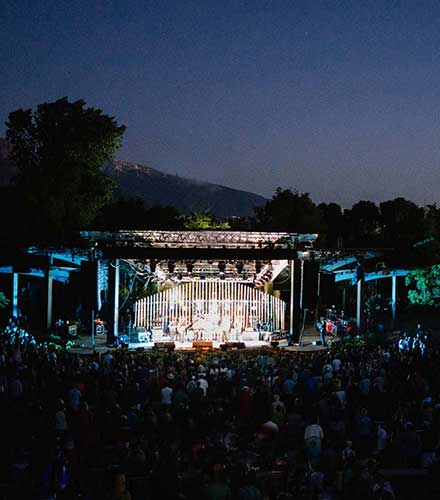 The Red Butte Garden Amphitheatre in Salt Lake City