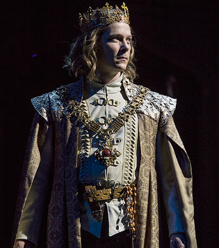 Jim Poulos as King Henry VI in Henry VI Part One, 2018.
