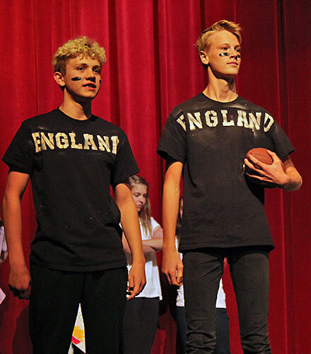 Students perform a scene at the 2019 Shakespeare Competition.