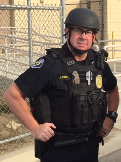 We will also be joined by Arvin, CA Police Officer Jeff Packebush. Officer Packebush was shot at the scene of a domestic violence call in December of 2014. Even though he had been shot, he continued to engage the suspect, taking the gun from him and initiating an arrest. For his heroism, Officer Packebush was awarded the California Attorney General's Certificate of Valor (and the Purple Heart from his department).