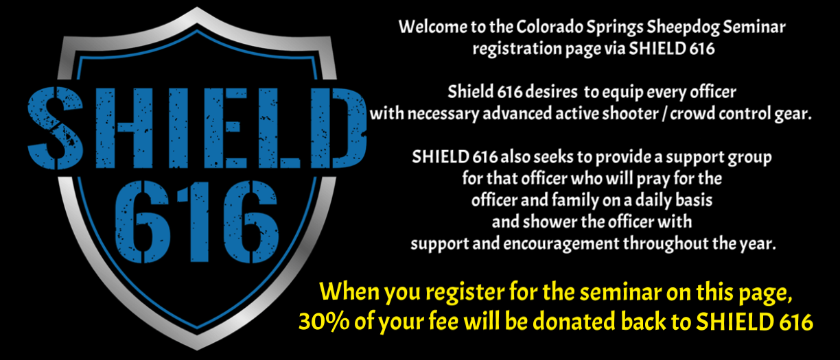 If you cannot attend, you may also purchase ticket(s) and we will give those tickets to police officers. If this is your plan, please text 817.437.9693 and inform us that you have done so. SHIELD 616 will still receive credit.