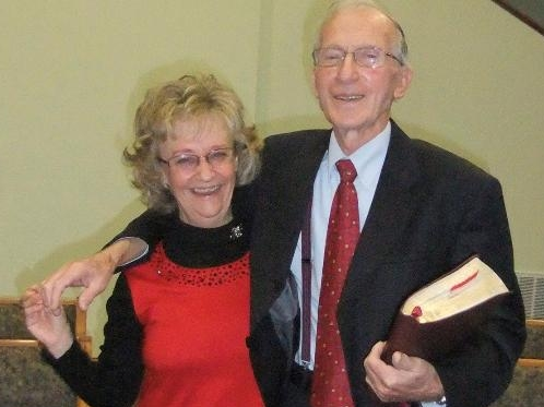 Carolyn New and her husband, Rev. New, the founding pastor of the church.