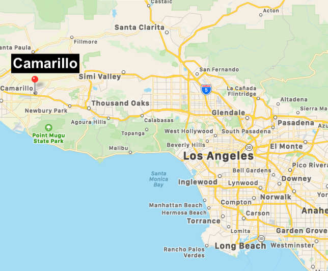 CLICK IMAGE TO ENLARGE.   Click here   to see how far Camarillo, CA is from your location.