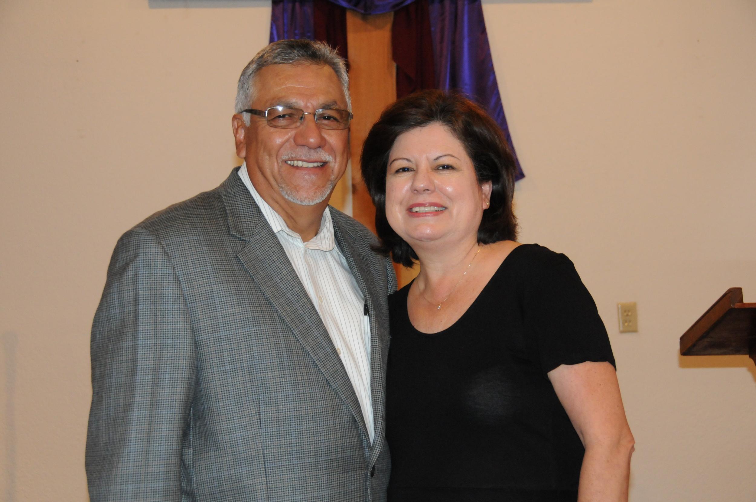 Pastor Jaime Guerrero and his wife Gloria Guerrero.