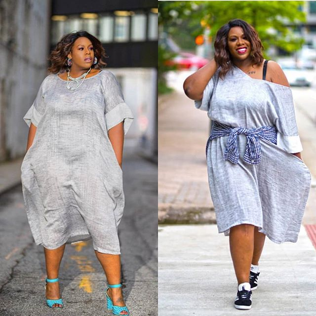 I spy fab plus blogger @ramona_o in the JIBRI Linen Tunic. She styled it glam & sporty. Which is your fave? Check out her page for details on the rest of her look. :) www.jibrionline.com #ispyjibri #plusfashion #plussizeglamour  #plussizefashion #psblogger www.jibrionline.com #ispyjibri #plussizefashion #plusfashion #plussizeclothes #plussizedresses #curvygirl #curvywoman #curvystyle #curvyfashion #celebratemysize