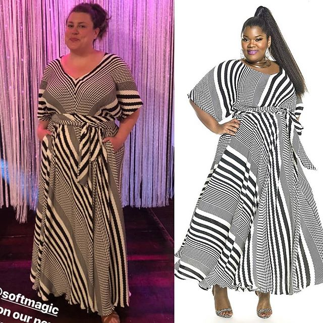 I spy the lovely @softmagic in a JIBRI Accordion Pleat Maxi Dress. Super cutie! www.jibrionline.com #ispyjibri #plussizefashion  #plusfashion #plussizeclothes #plussizedresses #curvygirl #curvywoman #curvystyle #curvyfashion
