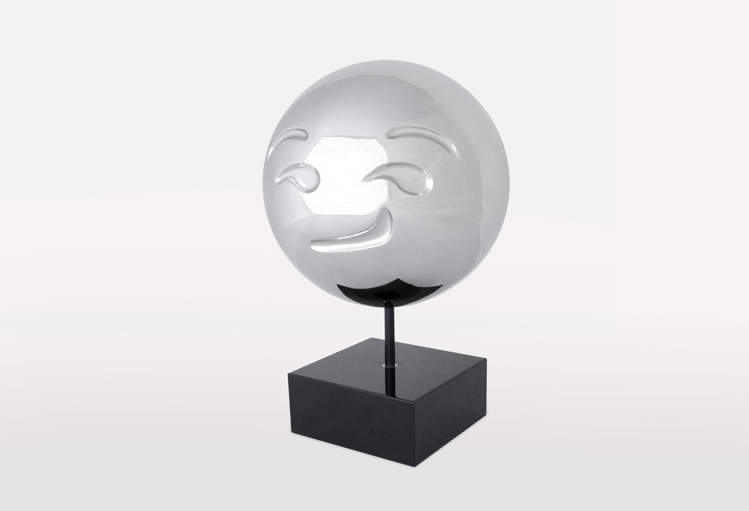 Smirk Emoji: Stainless Steel