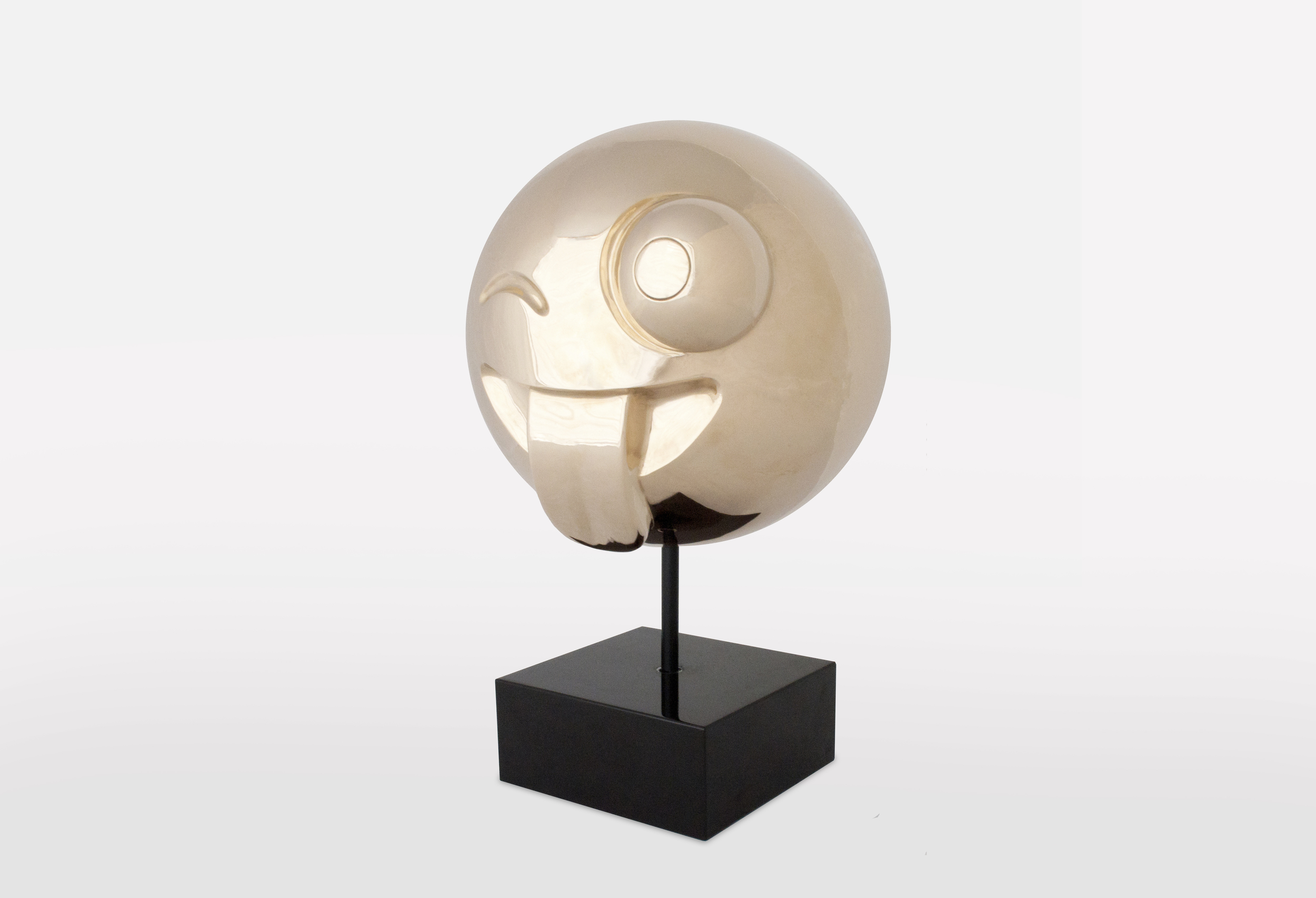 Crazy Emoji: Polished Bronze