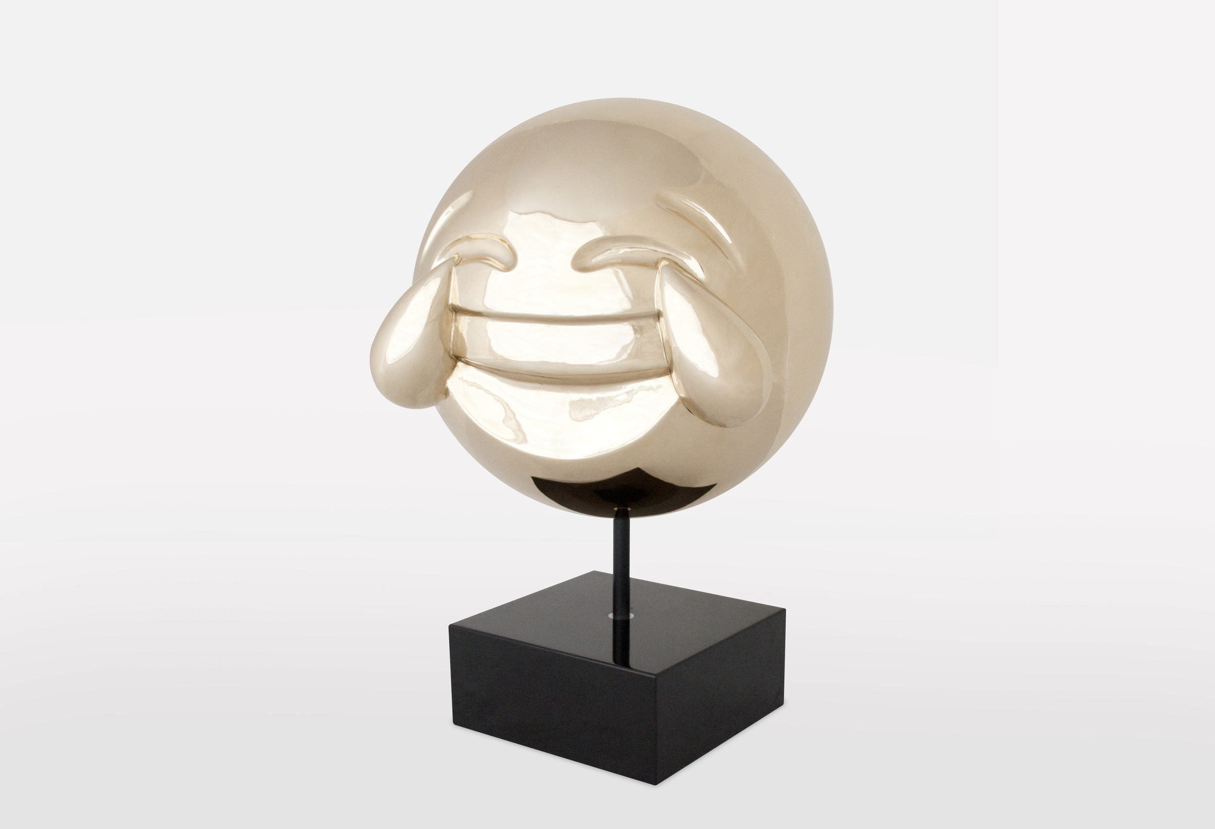 Joy Emoji: Polished Bronze