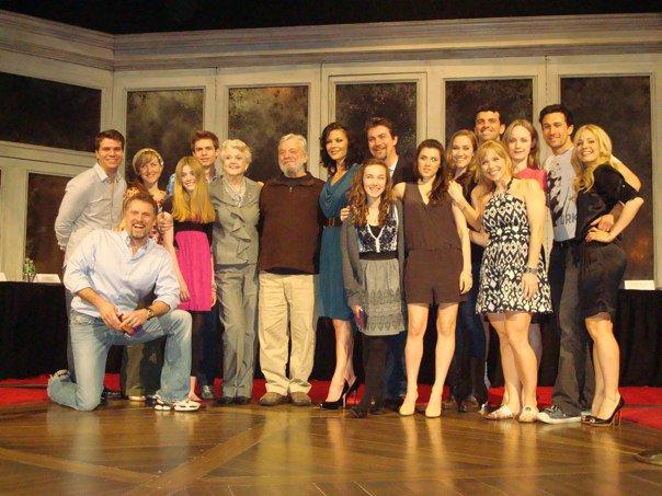 Original revival A Little Night Music cast with Stephen Sondheim.