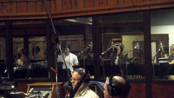 Recording the ALNM albumin the studio.