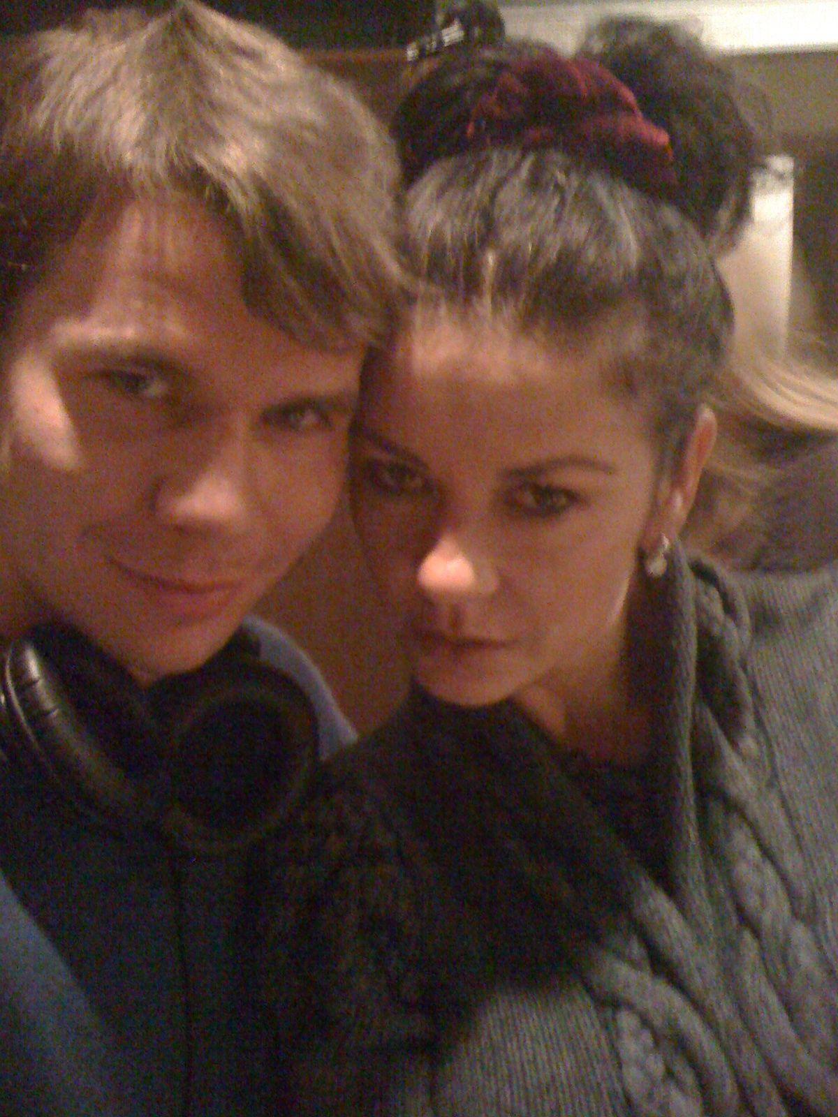 Sassy selfie withCatherine Zeta-Jones during the cast recording session.