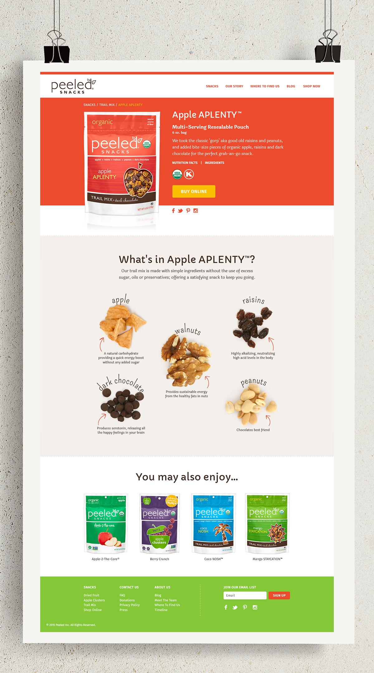 Peeled Snacks: Responsive Website | Rebranding