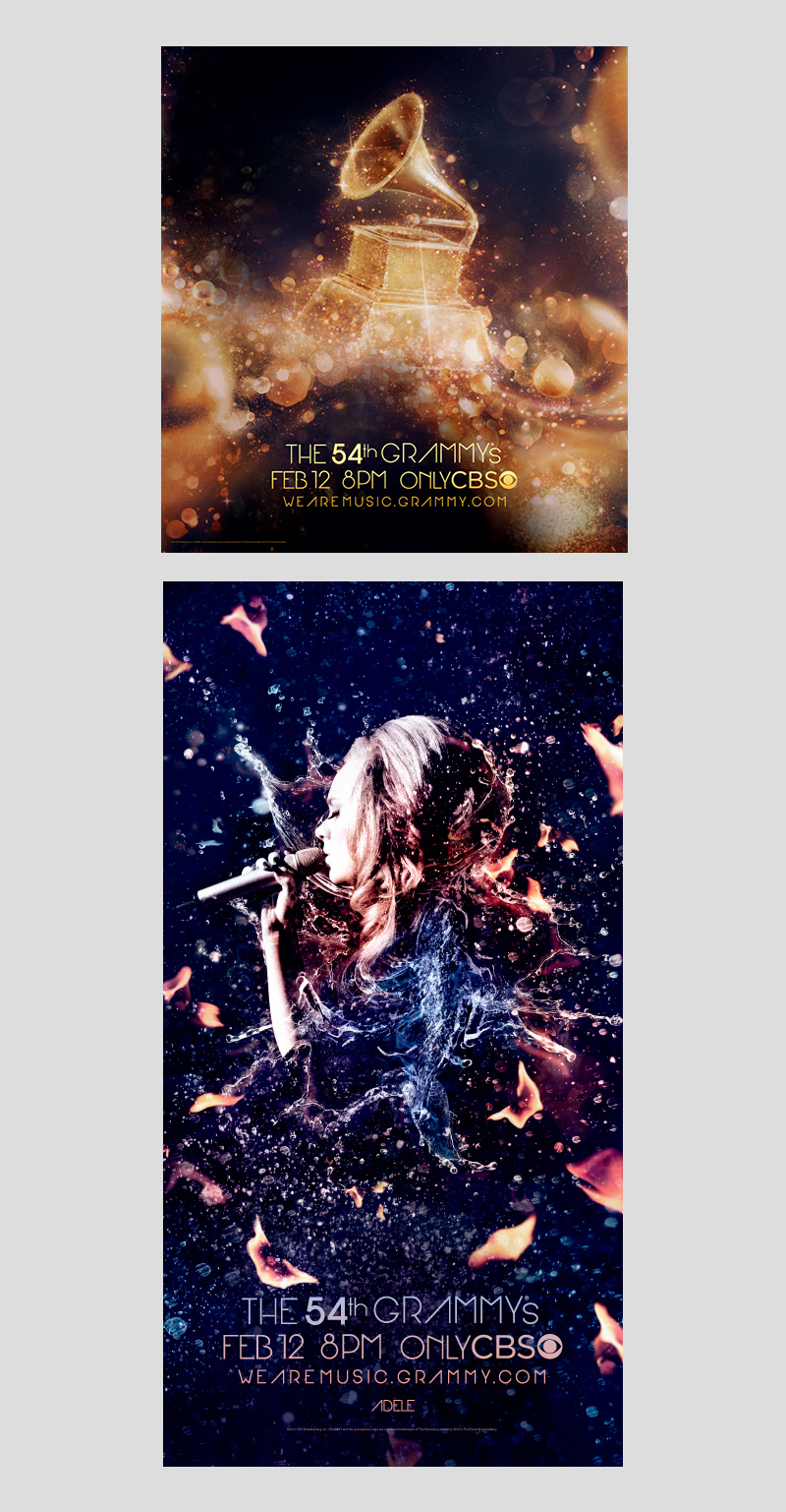 Grammy 2012 Outdoor Posters: Layout | Production