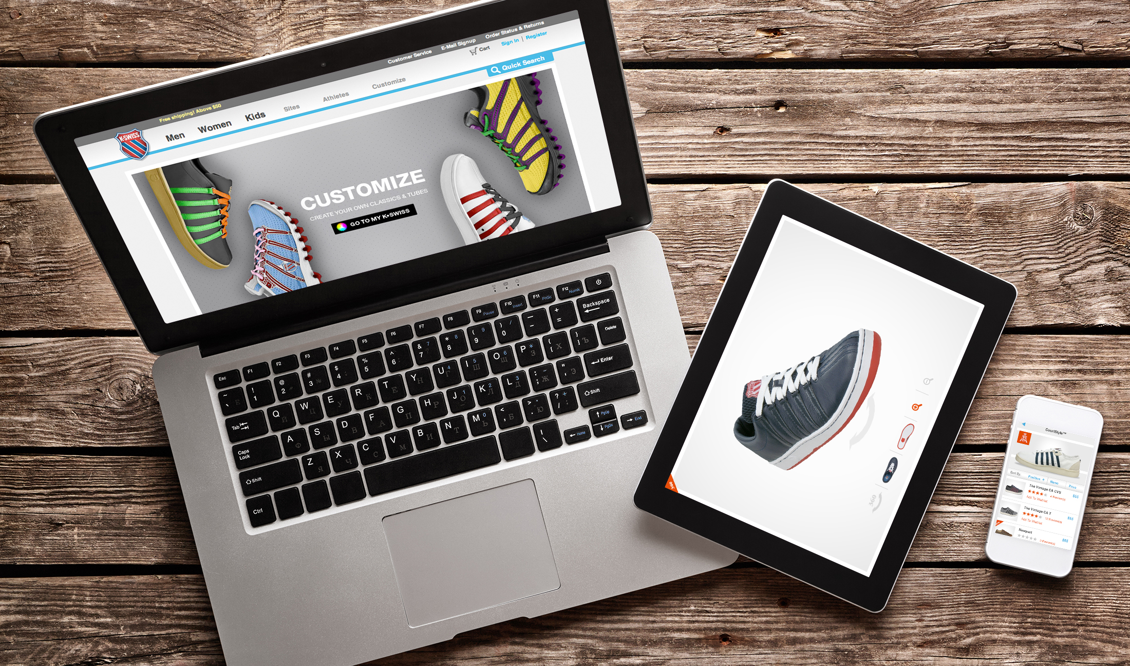 K-Swiss: Website | Microsite | Mobile Site | Email Marketing