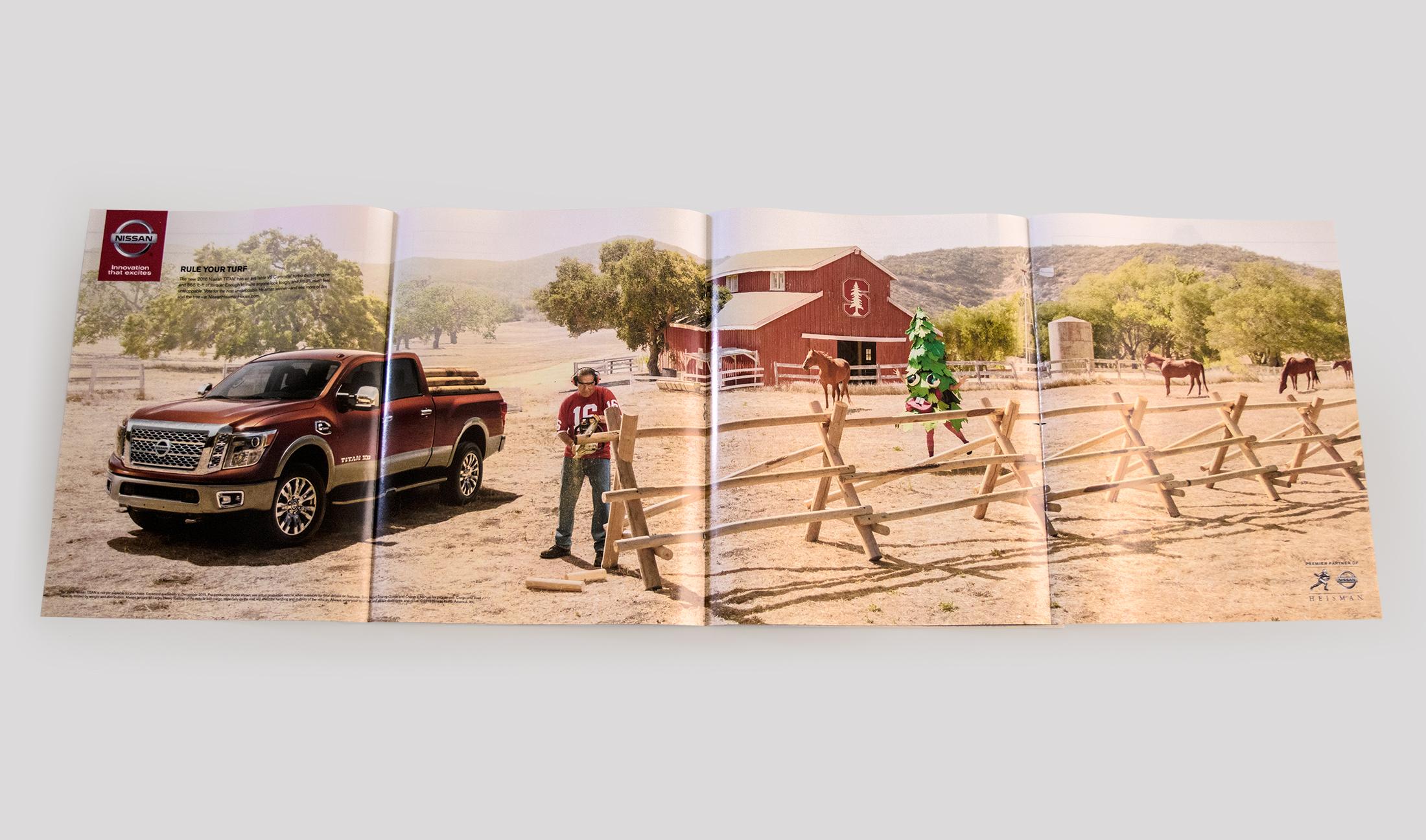 Nissan: Titan Heisman Gatefold Ad