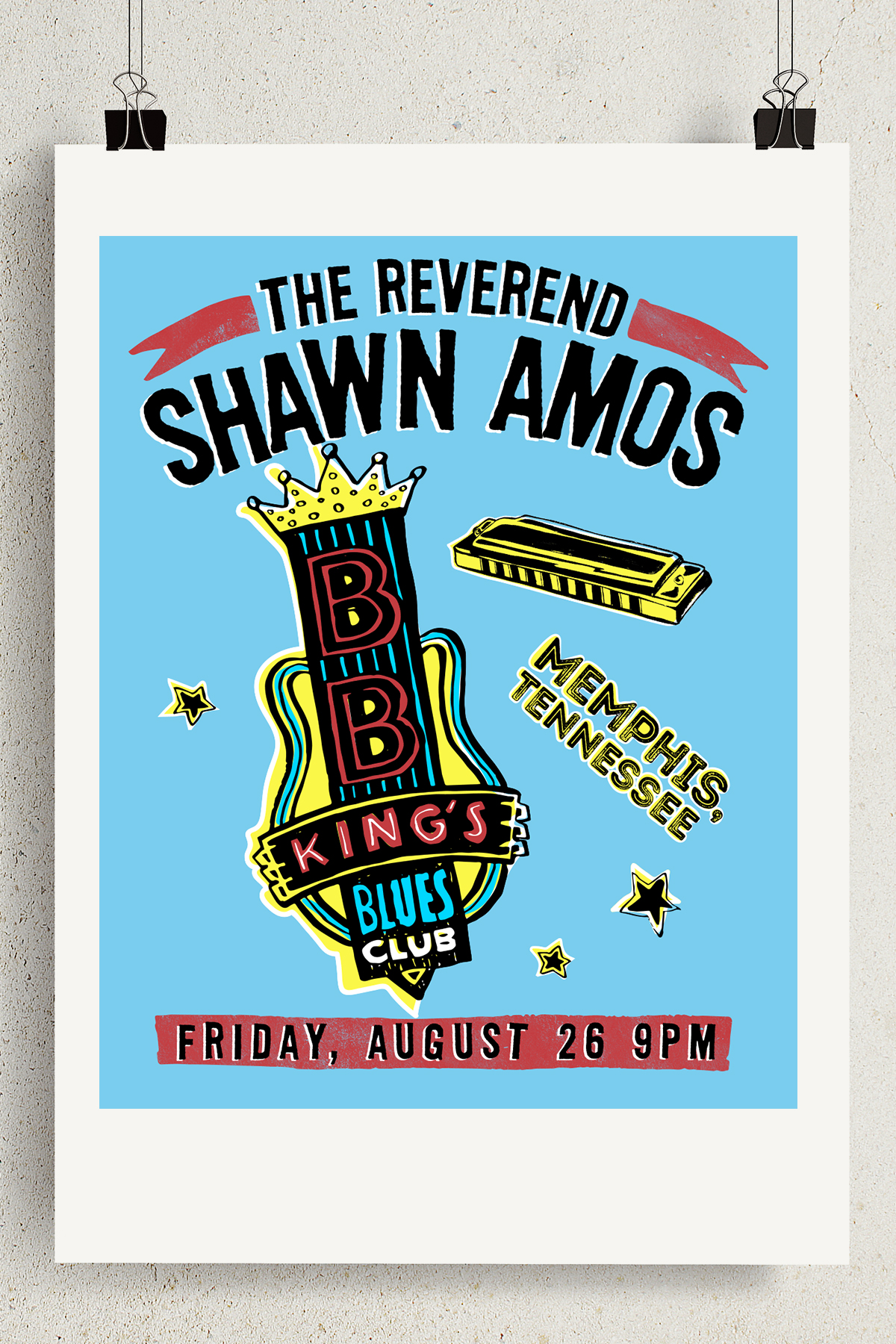 The Reverend Shawn Amos: Tour Poster | Email Invitation
