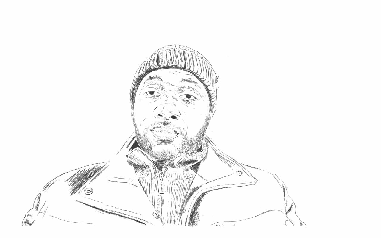 Self portrait using Autodesk sketchbook