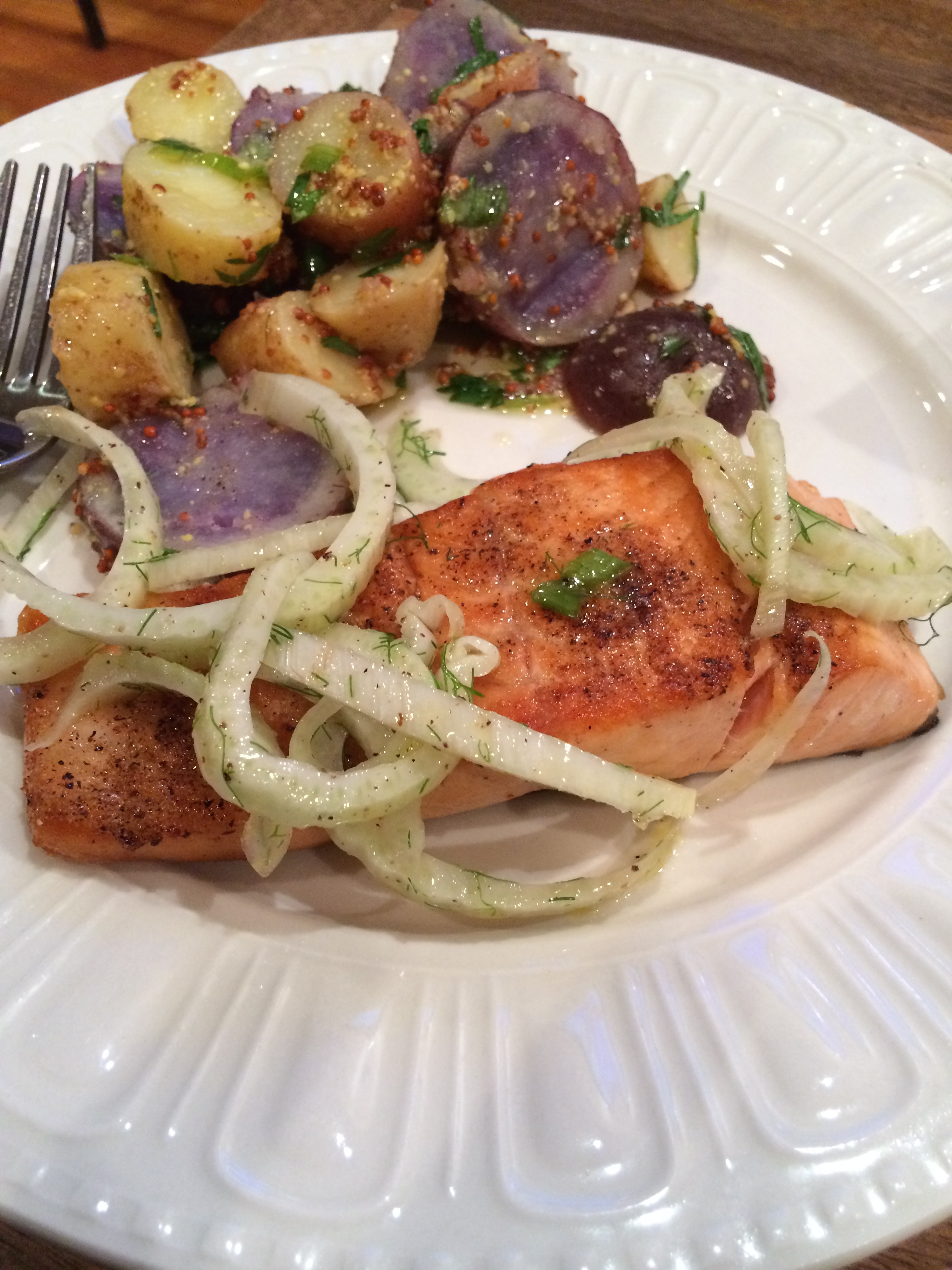 Salmon, Fennel, Potatoes. Thank you Blue Apron!