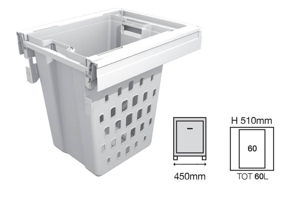 Bucket Height - 510mm  Drawer Normal Length - 500NL   Code EH1456540