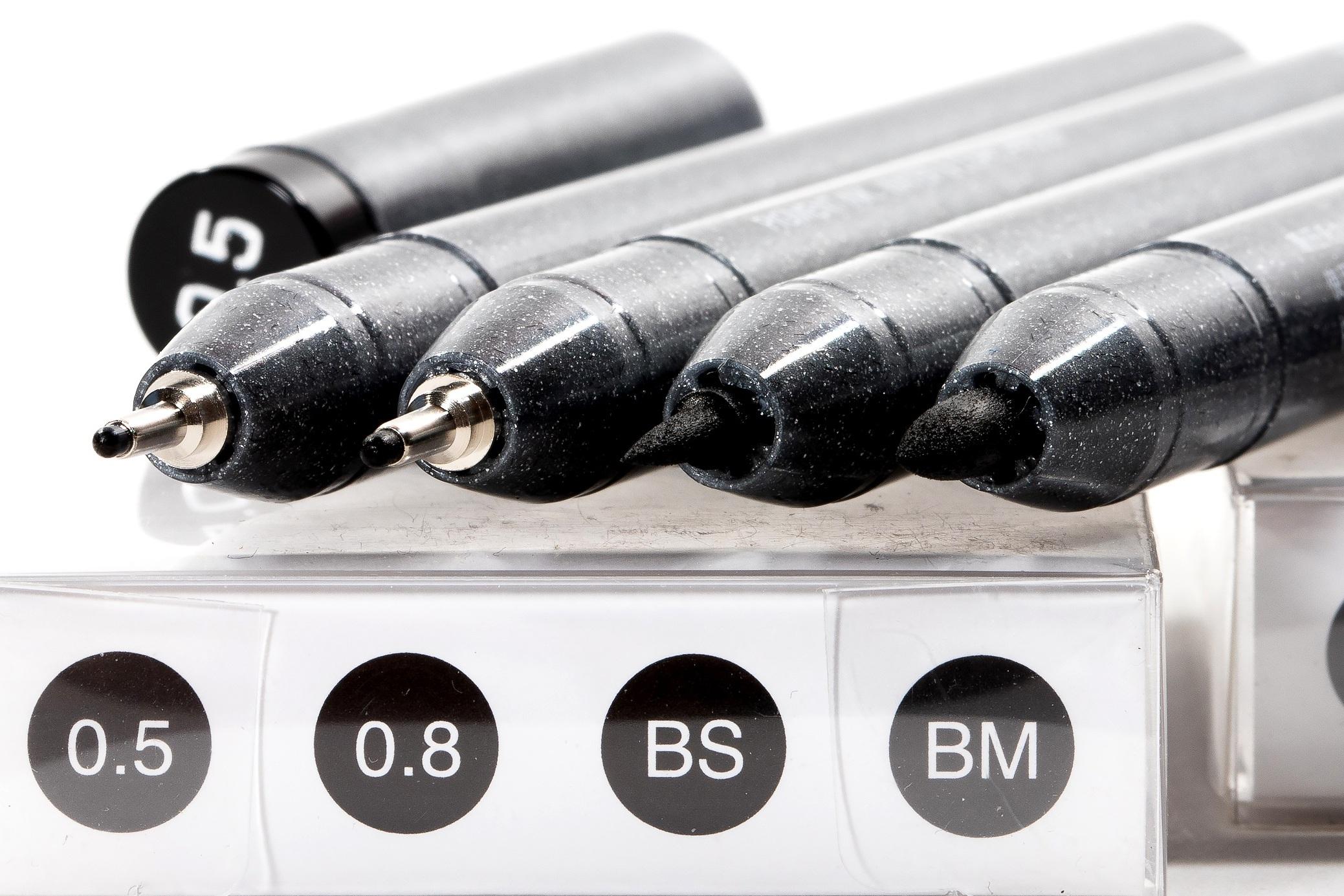 Set B - Broad Nib Inking Pens