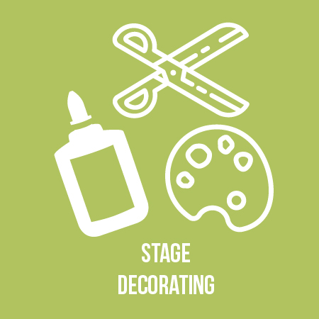 Help us decorate our stages for the evening festivities! -